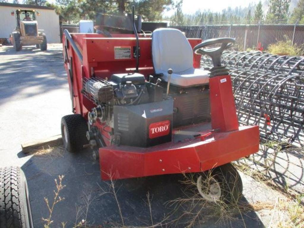 A Toro 4800 turf sweeper is for sale Saturday, Oct. 13, 2018 at the Nevada government surplus sale at the Tahoe-Reno Industrial Center east of Sparks.
