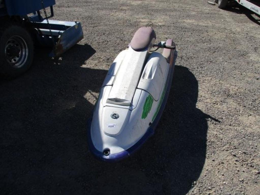 A 1994 Kawasaki Jet Ski is for sale Saturday, Oct. 13, 2018 at the Nevada government surplus sale at the Tahoe-Reno Industrial Center east of Sparks.