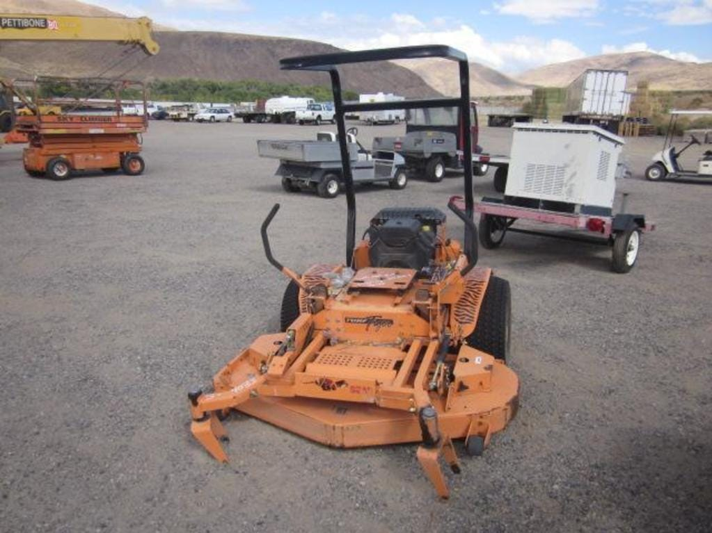 A Scag turf tiger mower is for sale Saturday, Oct. 13, 2018 at the Nevada government surplus sale at the Tahoe-Reno Industrial Center east of Sparks.