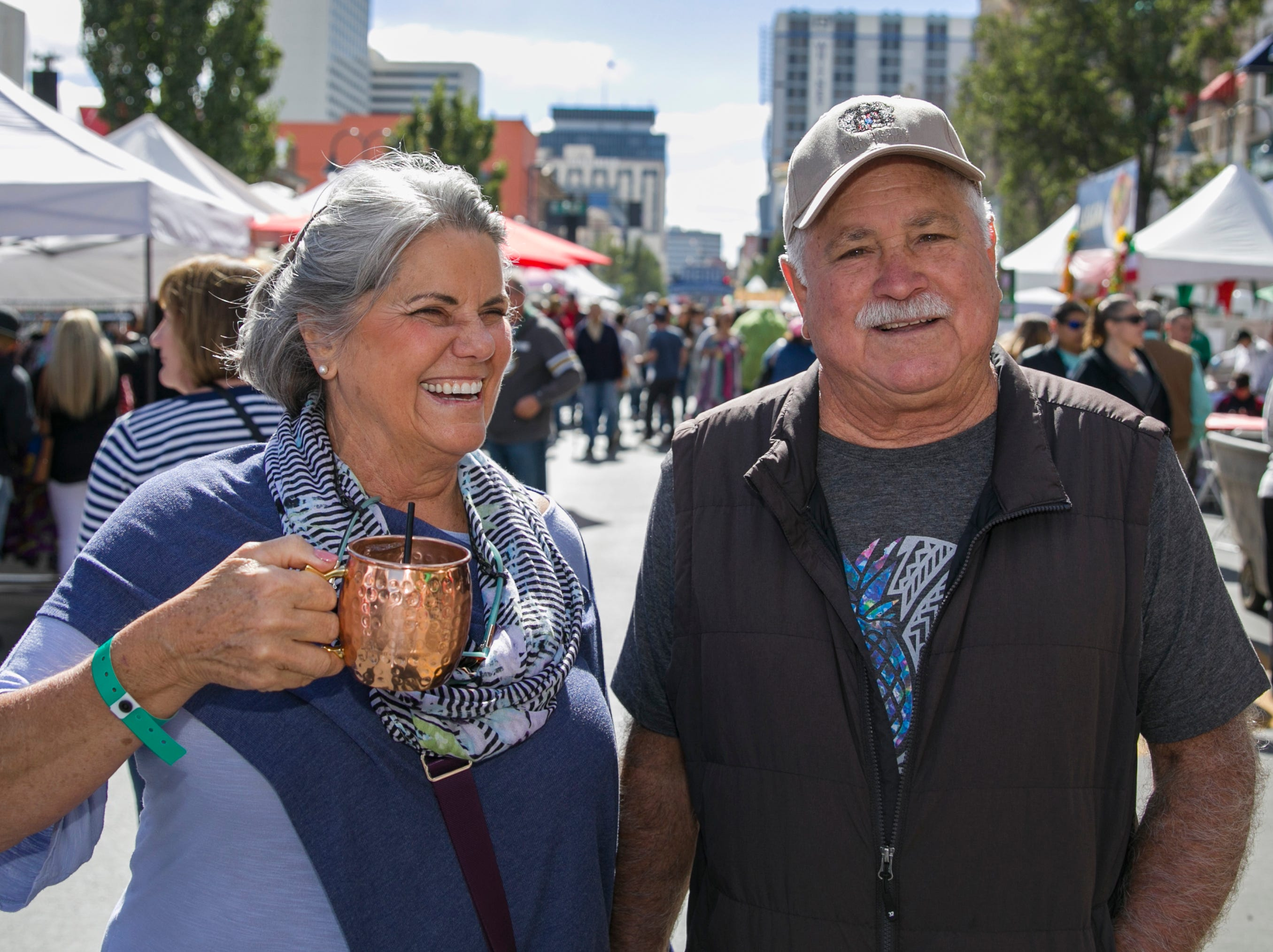 Tina and Casey during the Italian Festival held in downtown Reno outside of the Eldorado Hotel and Casino on Sunday afternoon, October 7, 2018.