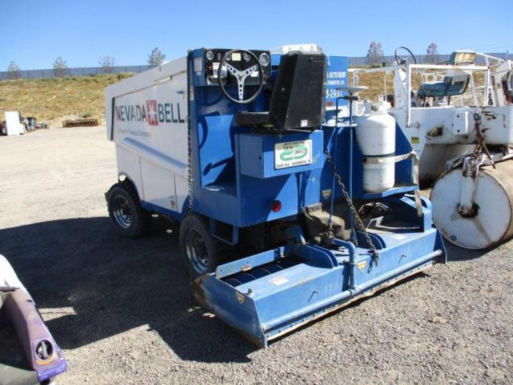 A Zamboni ice-surfacer will be on the auction block Saturday, Oct. 13, 2018 at the semi-annual Nevada state surplus auction at Tahoe-Reno Industrial Center east of Sparks.