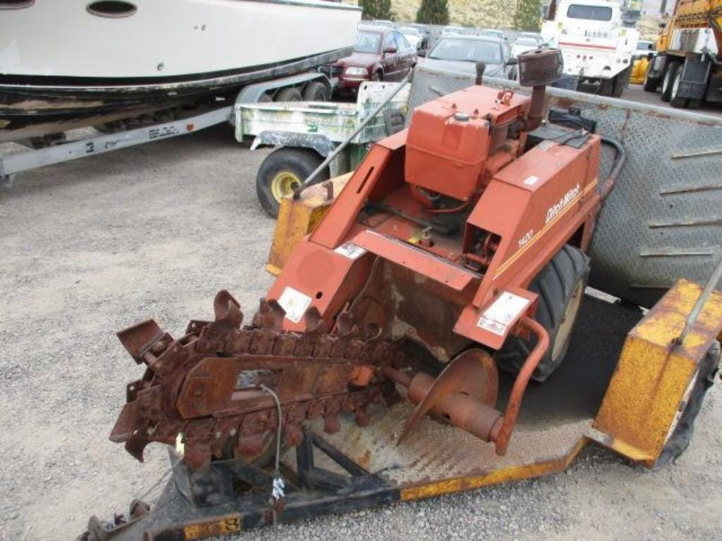 A Ditch Witch trencher is for sale Saturday, Oct. 13, 2018 at the Nevada government surplus sale at the Tahoe-Reno Industrial Center east of Sparks.