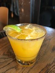 A mango margarita at Lulu was rimmed with cinnamon.