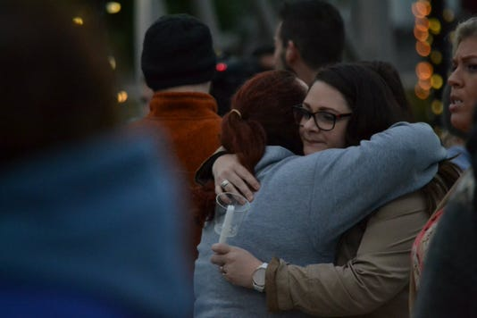 Vigil in Amsterdam for victims of limo crash.