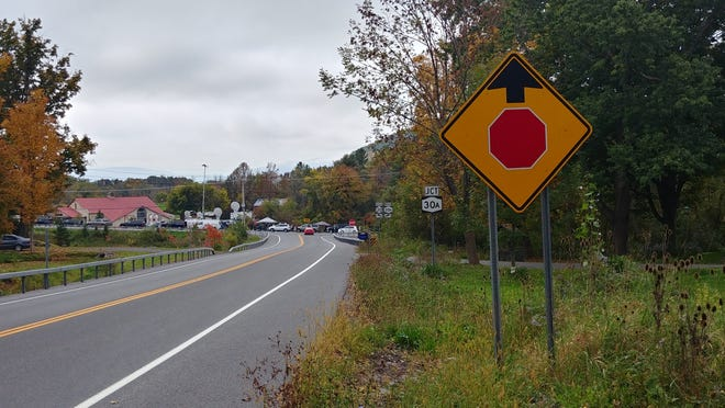 The intersection of Route 30 and Route 30A is where the limousine that killed 20 people in Schoharie, New York, crashed Saturday, Oct. 6, 2018.