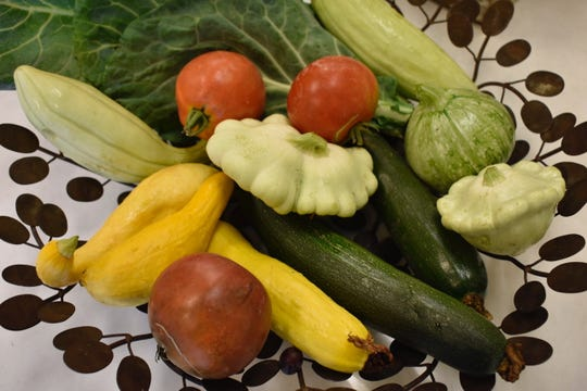 Some of the local produce used at Red Bicycle Catering.