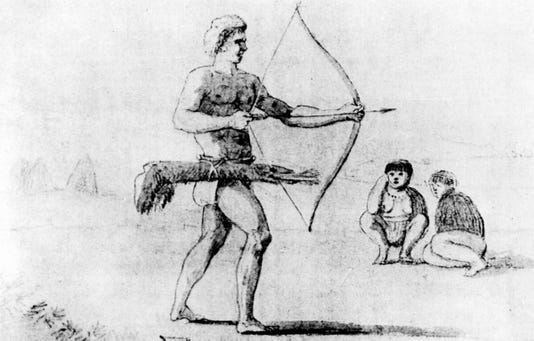 Rumsien Man Hunting Artist Unknown Circa 1790