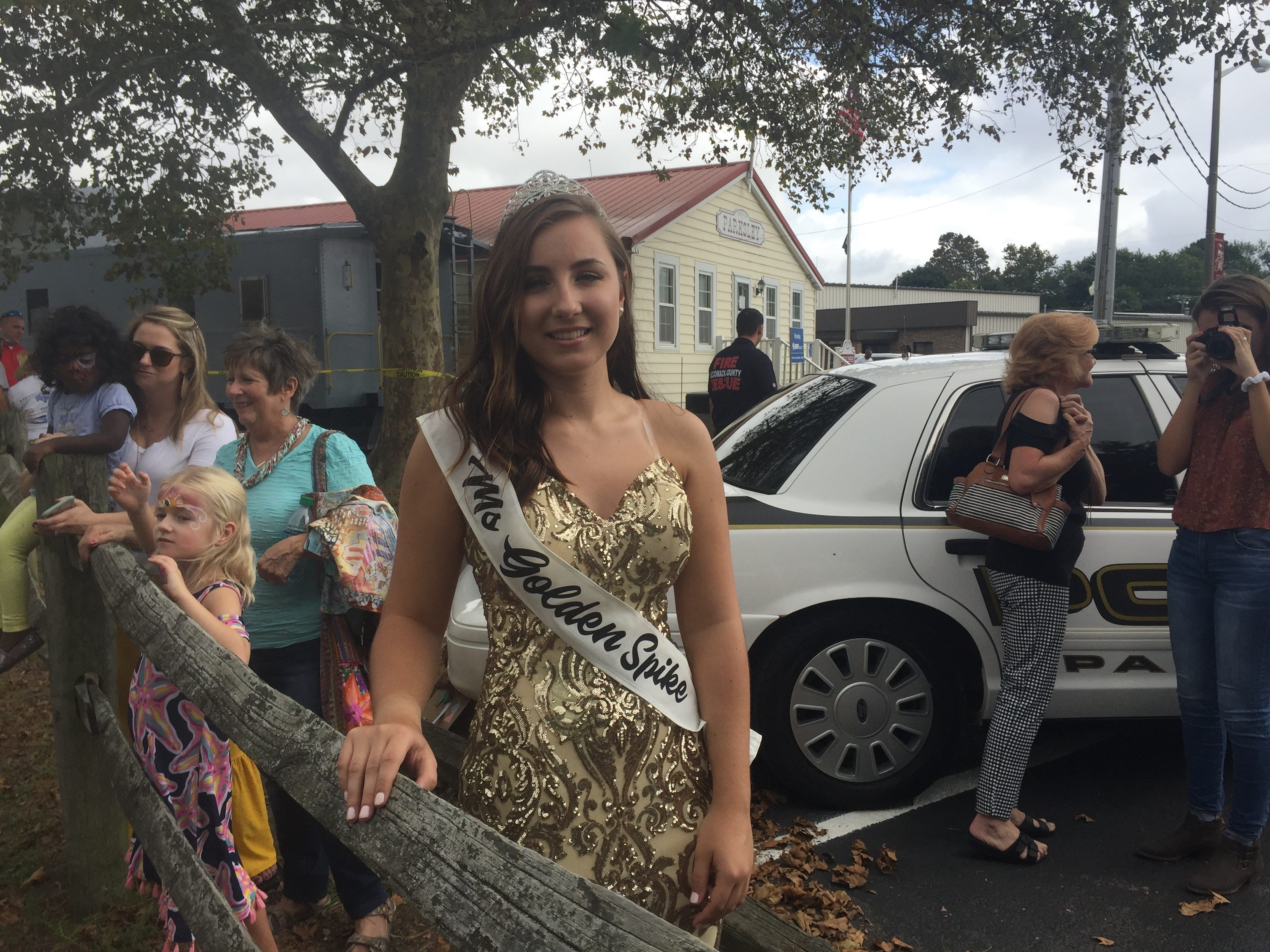 Anna Estelle was chosen Miss Golden Spike for the Golden Spike Railroad Festival in Parksley, Virginia on Saturday, Oct. 6, 2018. The festival was a revival of Parksley Fall Festivals held for many years in the past.