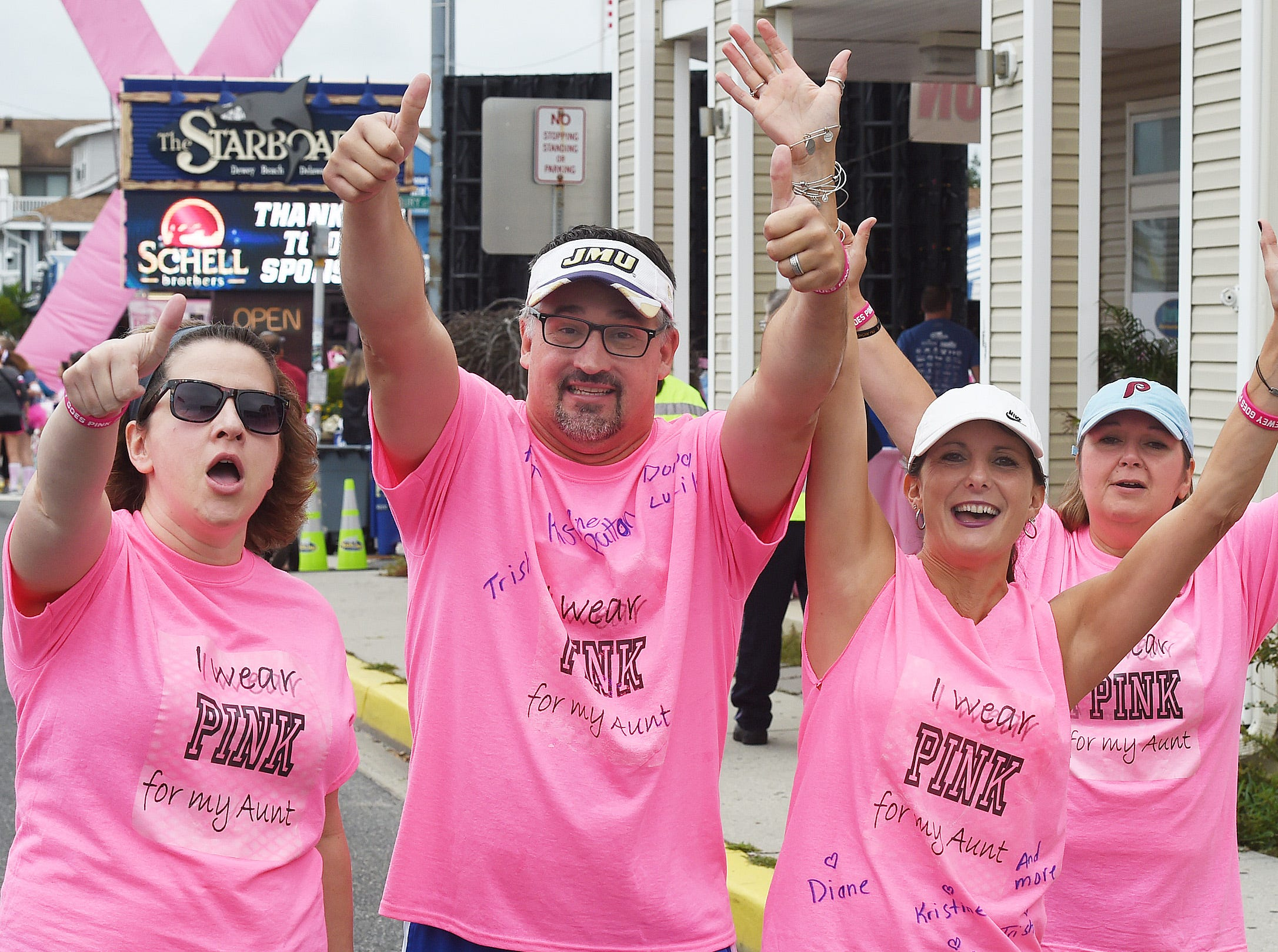 Over 3,000 runners and walkers participated in the 8th Annual Dewey Goes Pink 5K Run & 1.5 K Walk for Breast Cancer on Saturday, Oct. 6 in Dewey Beach.