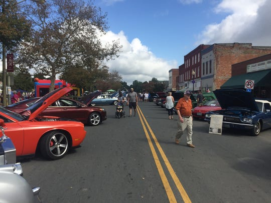 Festival goers enjoyed the Golden Spike Railroad Festival in Parksley, Virginia on Saturday, Oct. 6, 2018. The festival was a revival of Parksley Fall Festivals held for many years in the past.