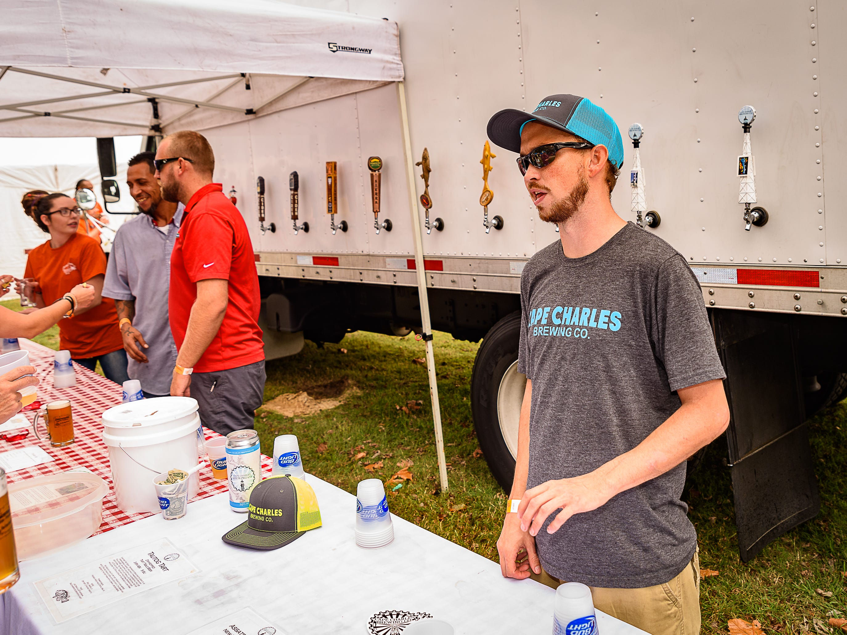 Cape Charles Brewing Company offered a selection of its beers at the Chincoteague festival.