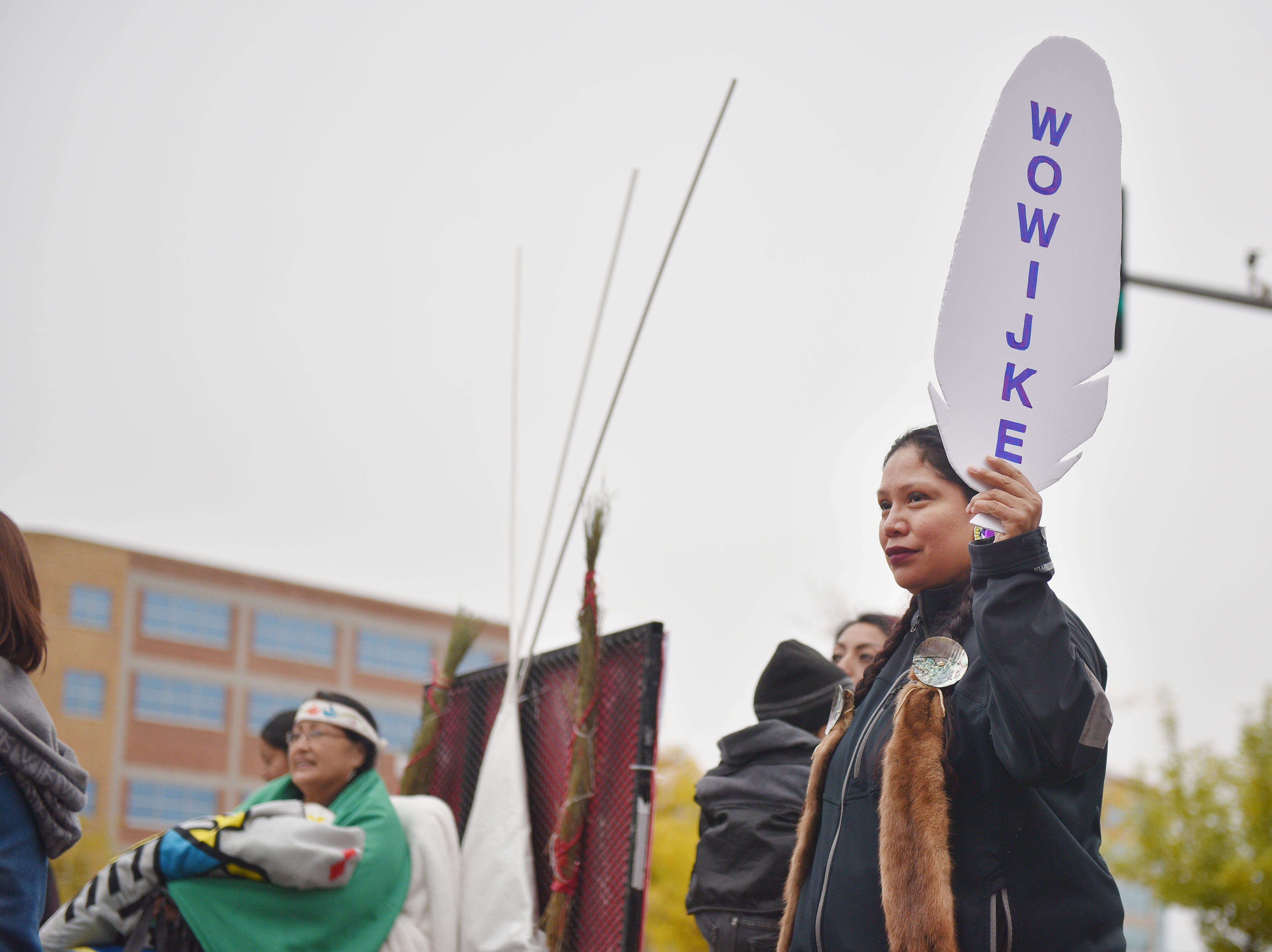"""South Dakota tribes participated in the Native Americans' Day parade Monday, Oct. 8, in downtown Sioux Falls. The theme this year was """"Honoring Our Elders."""""""