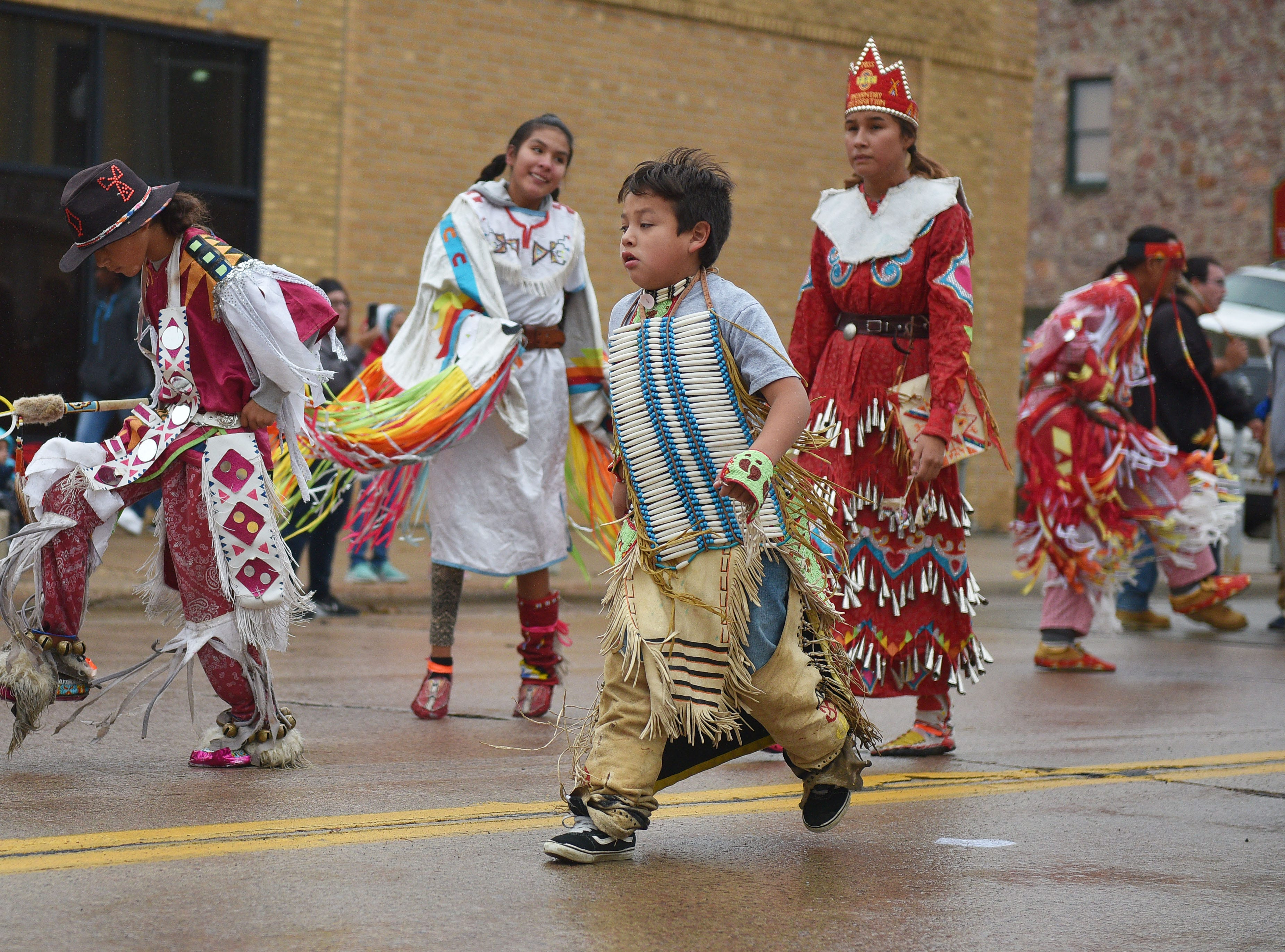 "South Dakota tribes participated in the Native Americans' Day parade Monday, Oct. 8, in downtown Sioux Falls. The theme this year was ""Honoring Our Elders."""
