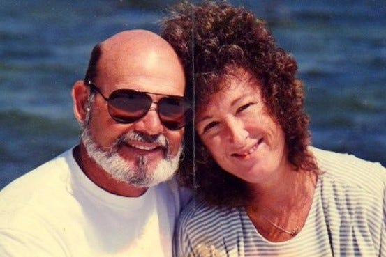 Jim and Debbie Dolan. Debbie was diagnosed with Alzheimer's disease in 2004 and died in 2012.