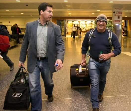 This is Jim Cantore arriving to the Boston Logan International Airport in January 2015.