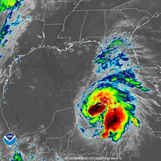 An infrared view of Hurricane Michael