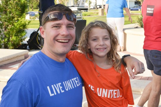 United Way of St. Lucie County Board Chair Andrew Treadwell and Saylor Wells at the 2018 Day of Caring.