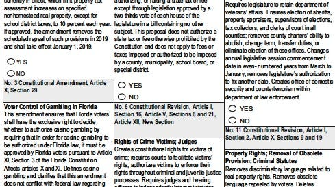 There are 12 constitutional amendments on the 2018 ballot.