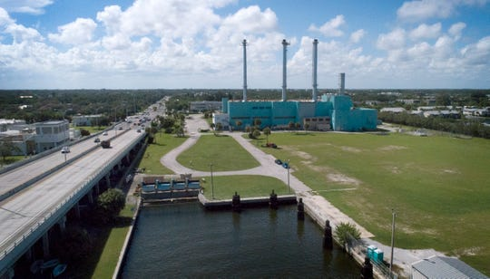 The site of the former Vero Beach Power Plant, photographed by a drone in September 2018. City Council could move a step closer to deciding what to do with the former power plant site.