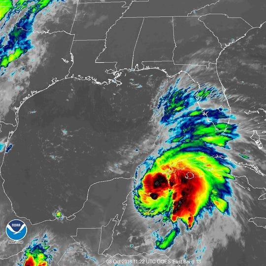 Hurricane Michael 11 a.m. Oct. 8, 2018