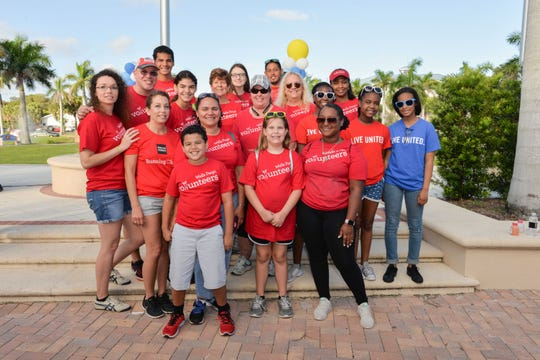 Volunteers from Wells Fargo participate in United Way of St. Lucie County's Day of Caring.