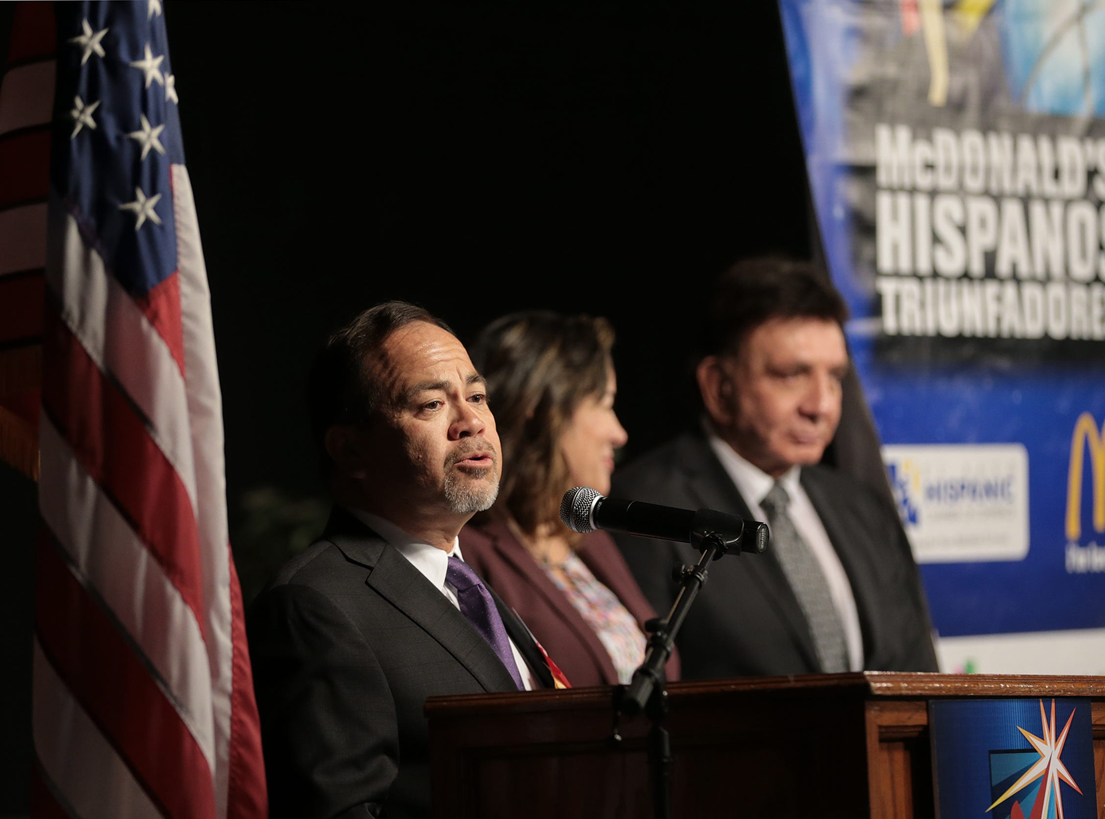 Art Fierro received an Hispanos Triunfadores Award for his work in education. Fierro sits on the EPCC board and has been recognized nationally for developing pathways for minorities and under-served students in the borderland.