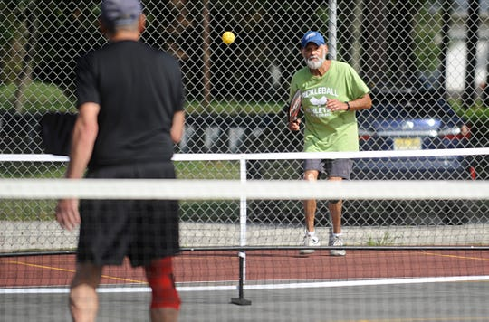 Gary Durham, 69 of Bridgeton, is a member of the Vineland Picklers and plays pickleball at Pagluighi Park.