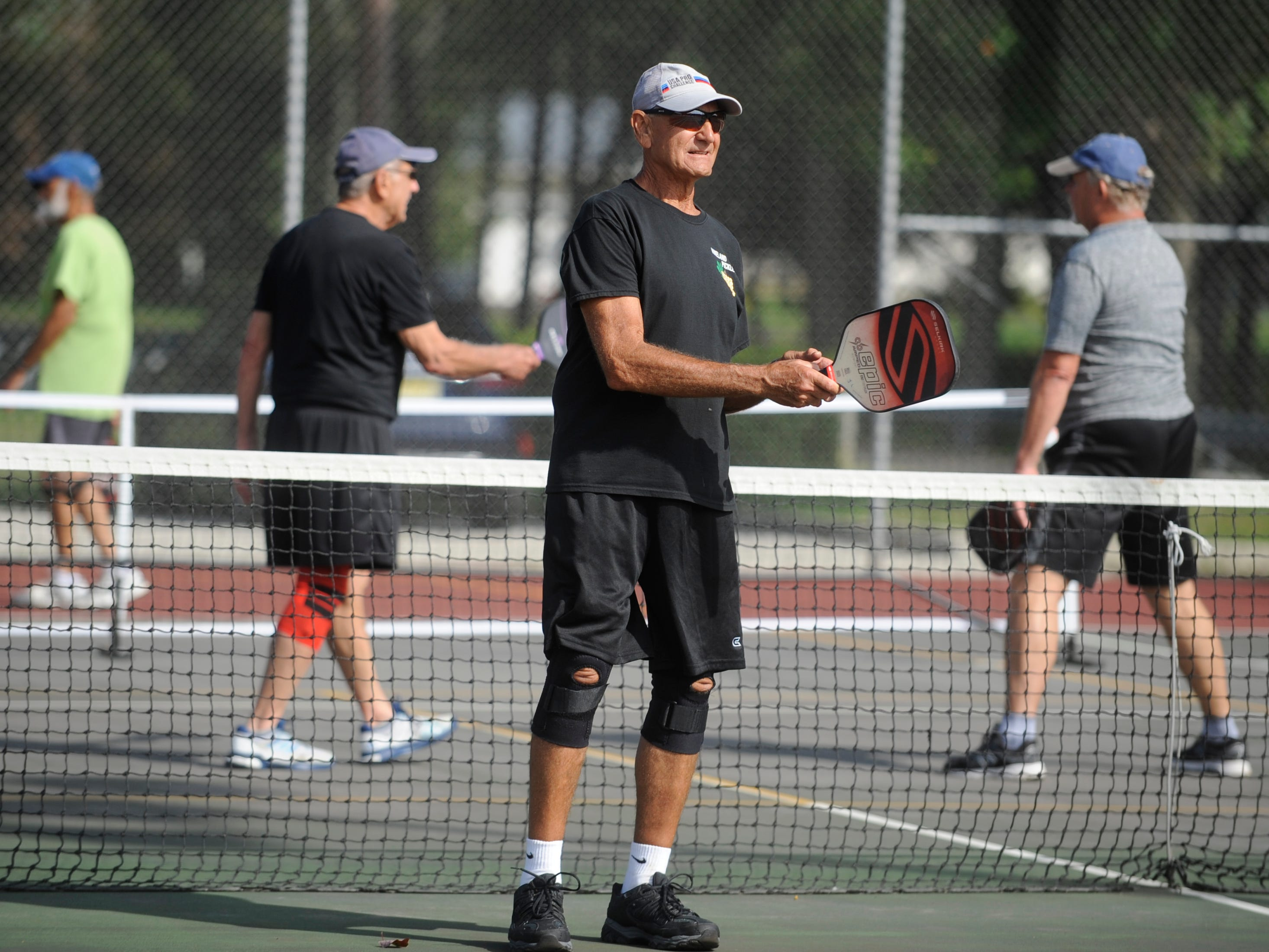 John Leopold, 74 of Vineland plays pickleball at Pagluighi Park in Vineland on Wednesday, October 3, 2018.