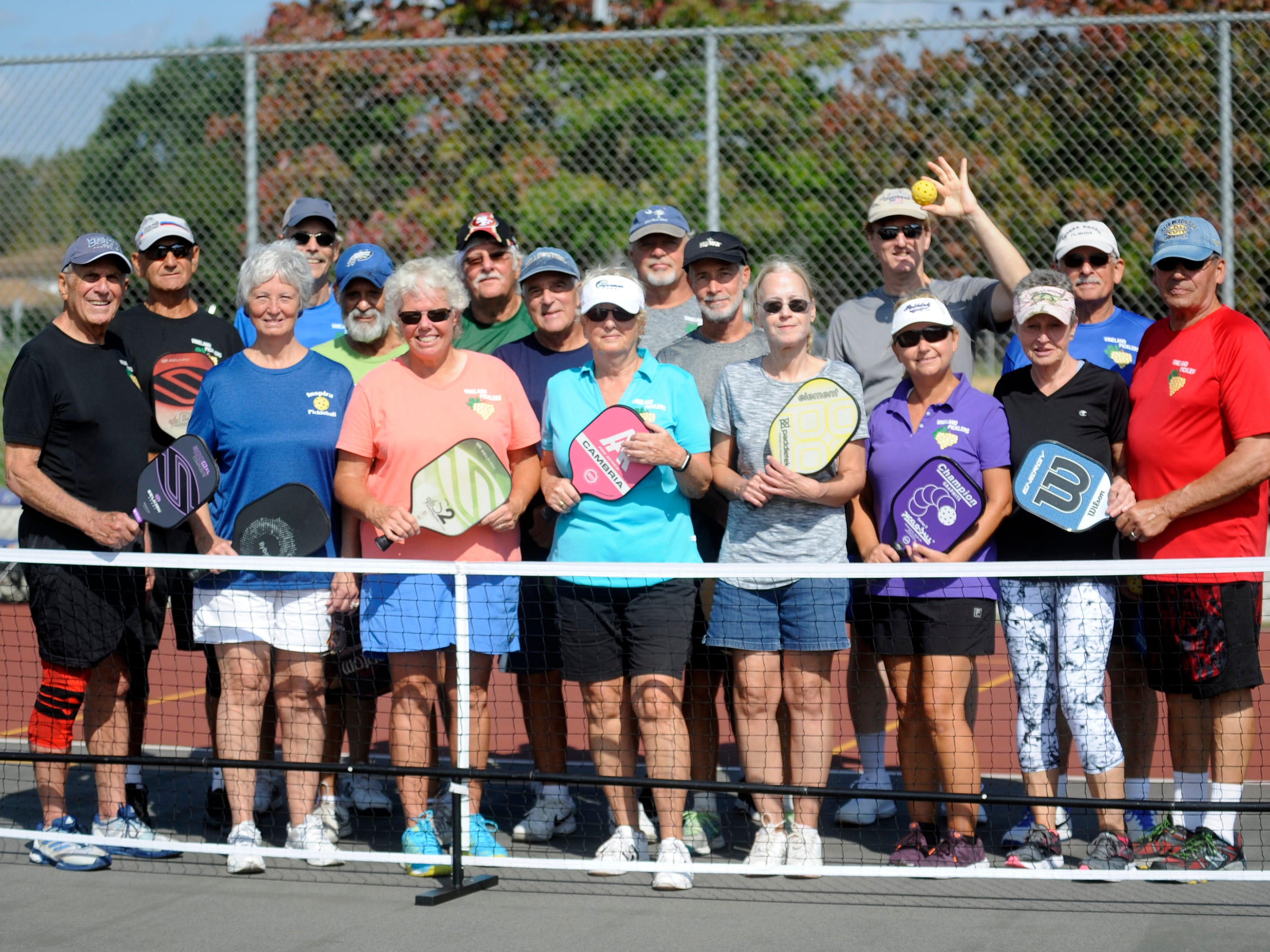 Members of the Vineland Picklers play pickleball which is a racket sport that combines elements of badminton, pingpong and tennis.