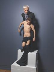 "Sam Jinks Standing Pieta 2014. The work is part of Hudson Valley MOCA's show ""Death is Irrelevant."""