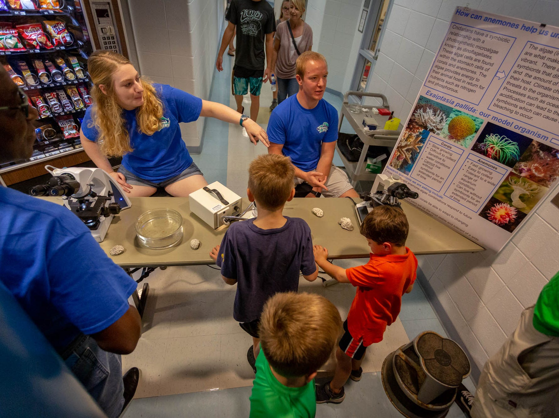 Children learn about aquatic plant life Sunday at UD's Coast Day in Lewes.