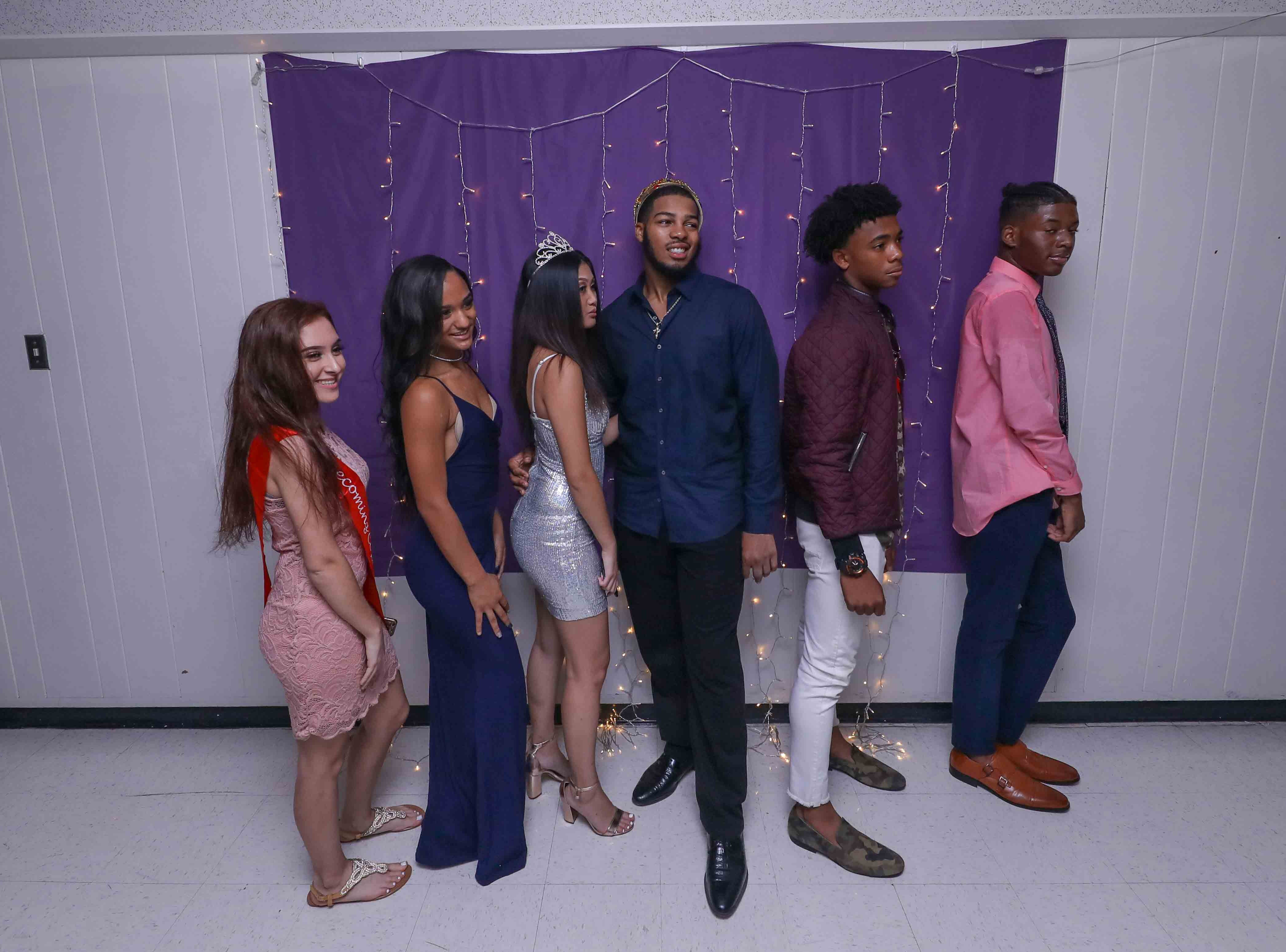 Students and their guest attend Glasgow High School homecoming dance Saturday, Oct 06, 2018, at Howard High School of Technology in Wilmington, DE.