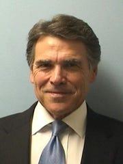 Former Texas Gov. Rick Perry's 2014 mugshot.