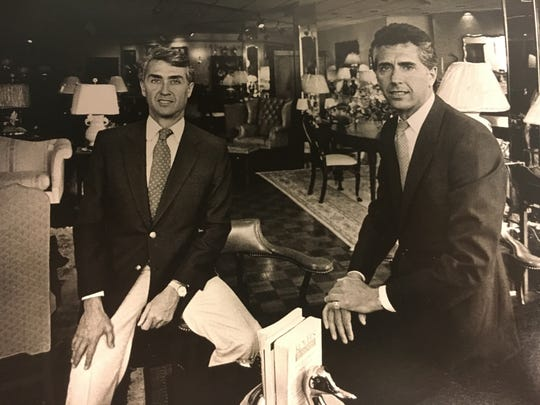 Rick Stein (left) and Jim Stein at Stuart Kingston Galleries in 1986.