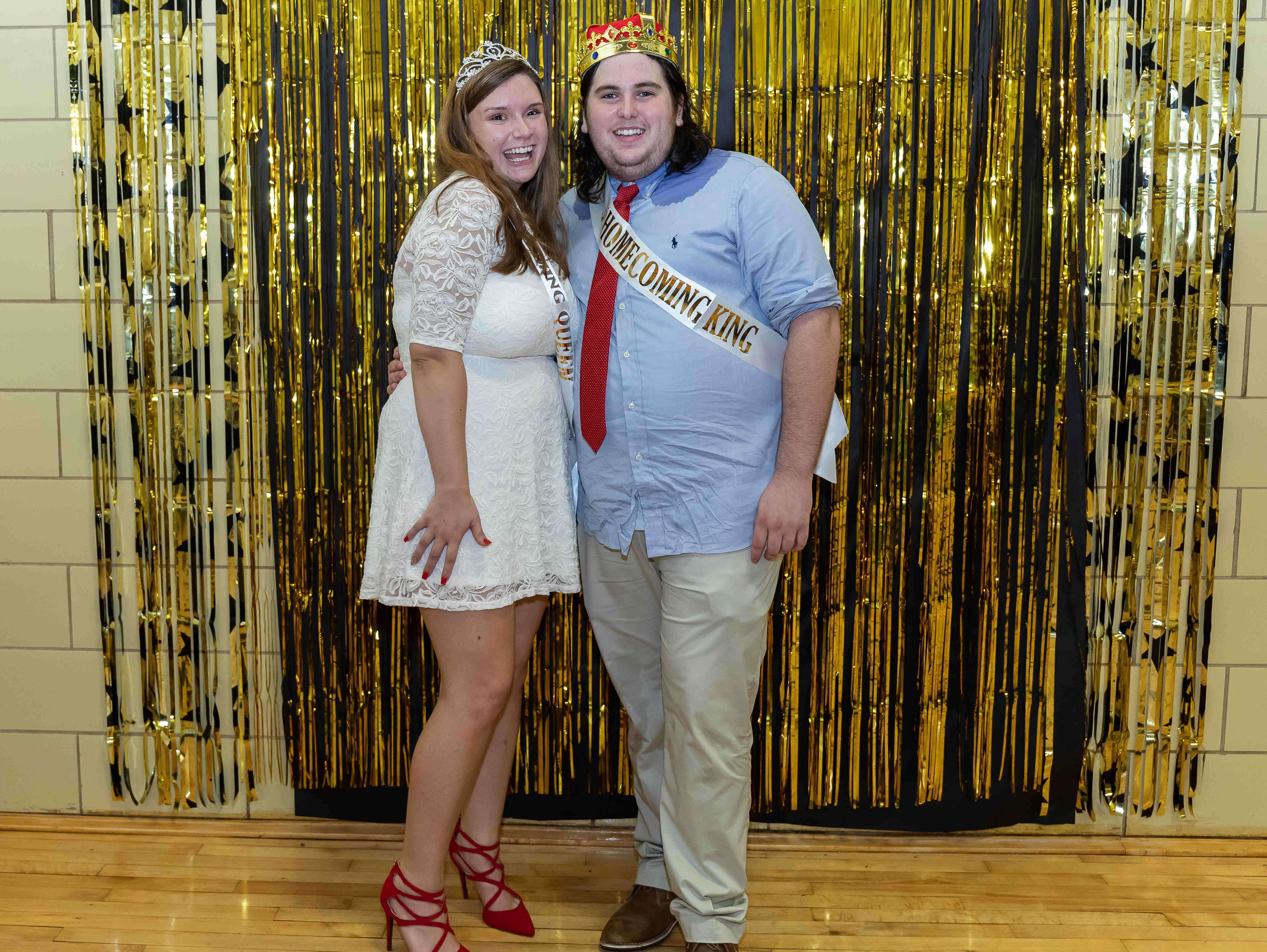 Senior Homecoming King and Queen Mackenzie Moore and Josh Elrod.