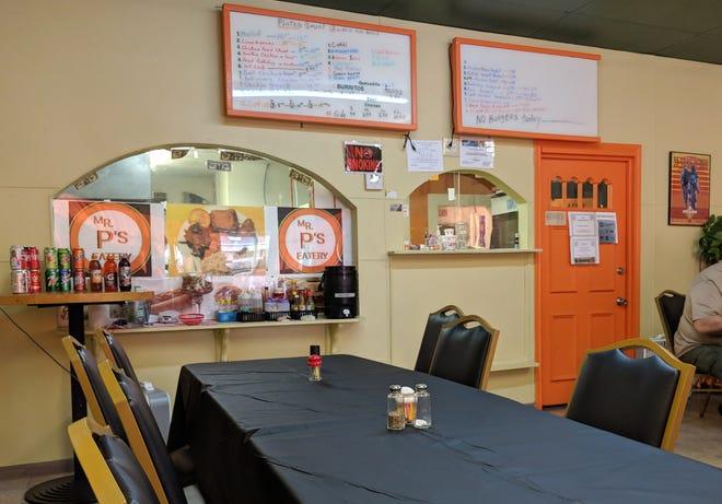 Inside Mr. P's Eatery at 902 Denver Street.