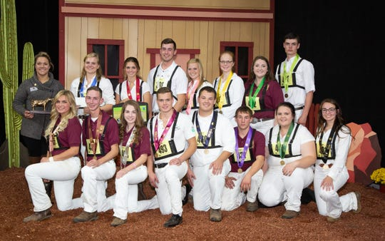 Senior winners of the junior showmanship competition of World Dairy Expo.