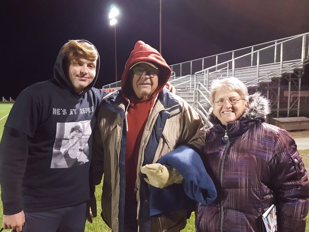"""Watching and cheering on grandkids is the """"bestest"""" fun for grandma Susan Manzke"""