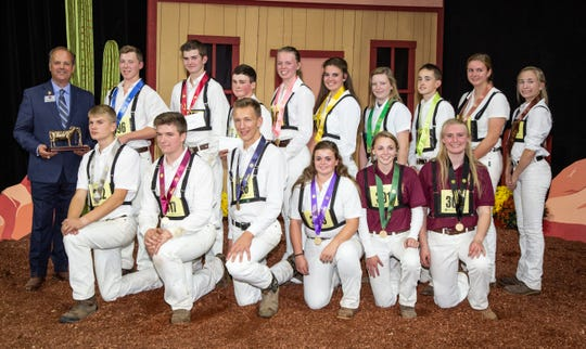 Intermediate winners of the junior showmanship competition of World Dairy Expo.