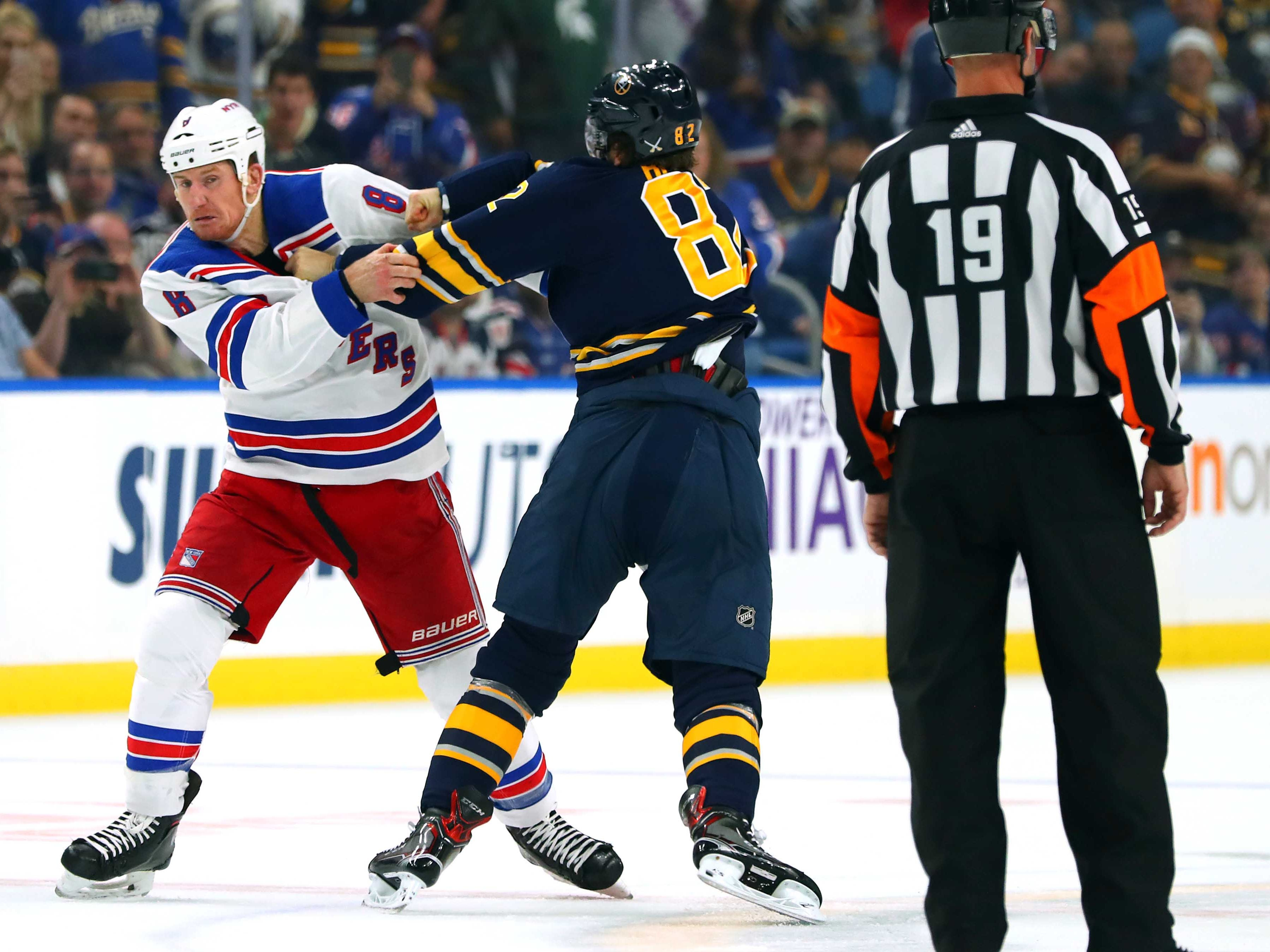 Oct. 6: Rangers' Cody McLeod vs. Sabres' Nathan Beaulieu.