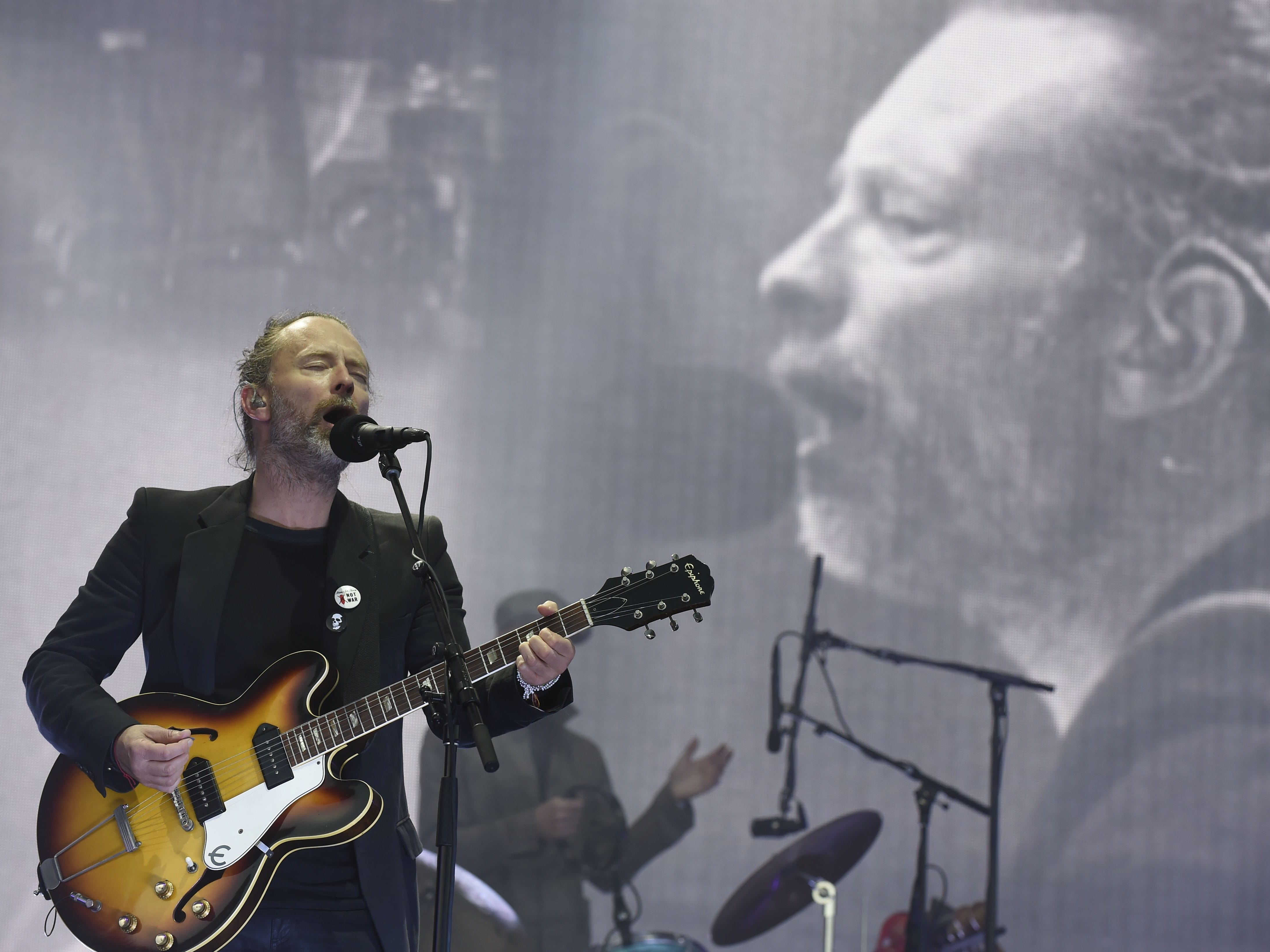 Radiohead. Here, the band headlines the main stage at the TRNSMT music Festival on Glasgow Green, in Glasgow, Scotland, July 7, 2017.
