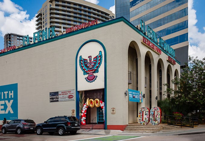 """El Fenix is celebrating the 100th anniversary of its original downtown Dallas location this year. """"We're busy here every day,"""" says El Fenix general manager Gabriel Padilla, who's worked at the restaurant for 33 years. """"We have very loyal employees and very loyal customers."""" The restaurant is busiest on Wednesdays, when the """"$5.99 enchilada special"""" draws big crowds. More than 4,200 customers show up on the one day each September when the enchilada plate drops to $1."""
