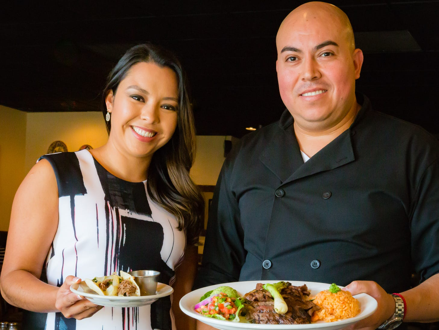 Gabriela and Sofia Tex-Mex is owned by two couples who met while chef-owner Gabrielle Pampa (right) was cooking at a smaller, now-closed Tex-Mex restaurant. Pampa and co-owner Blanca Rodriguez (left) welcome guests to their restaurant as if it were their home. Named for Gabrielle's daughter Gabriela and Rodriguez's daughter Sofia, the four-year-old restaurant makes nearly everything from scratch using top-quality ingredients, including this taco and this carne asada entree.
