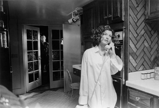 "Michael Myers (Nick Castle) stalks Annie (Nancy Kyes) in the original ""Halloween."""