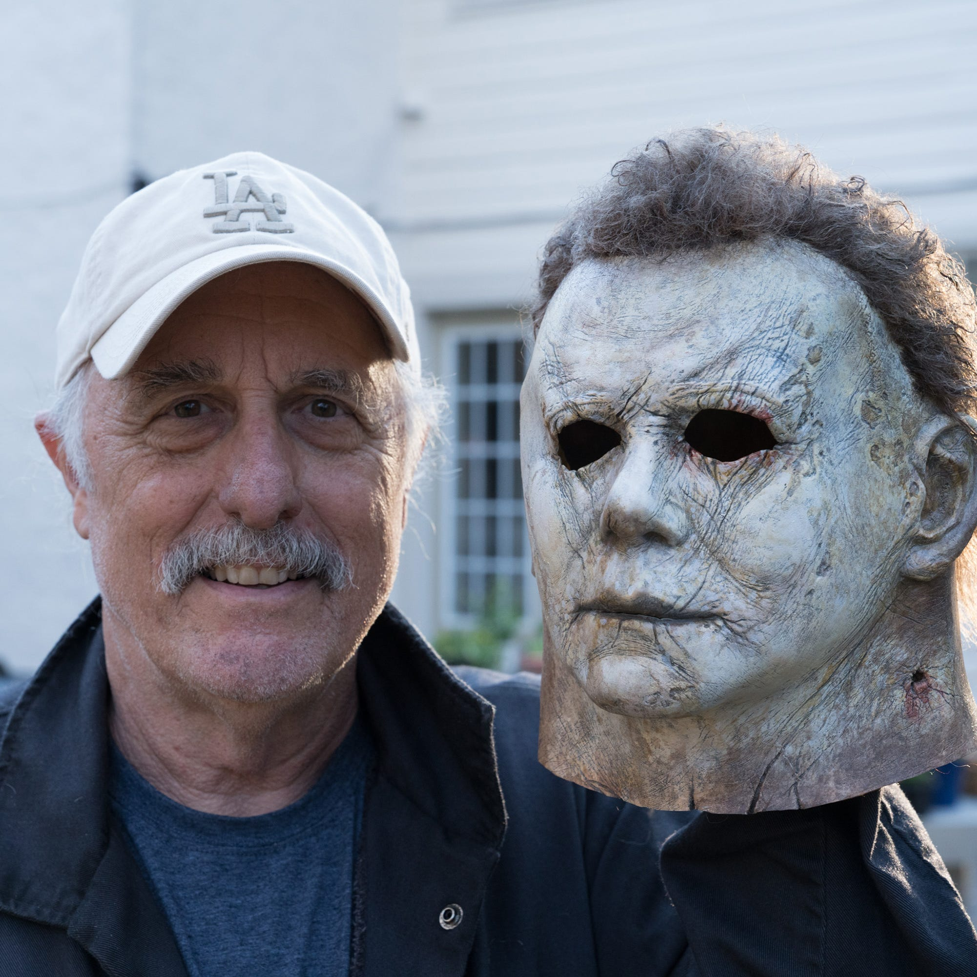 Nick Castle, the original Michael Myers, puts on his 'Halloween' mask once more