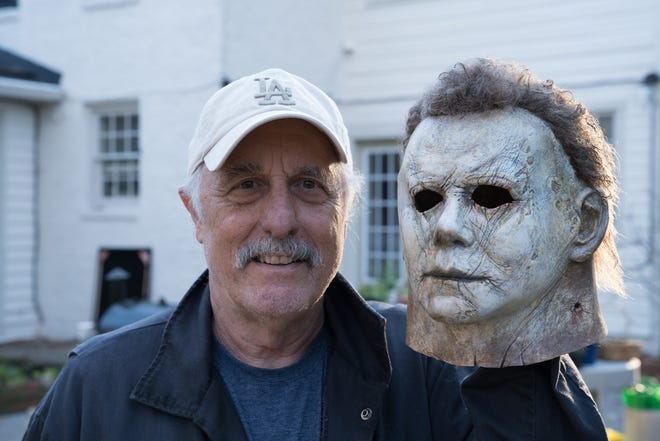 "Forty years after wearing Michael Myers' mask in the original ""Halloween,"" Nick Castle dons it again for the new sequel."