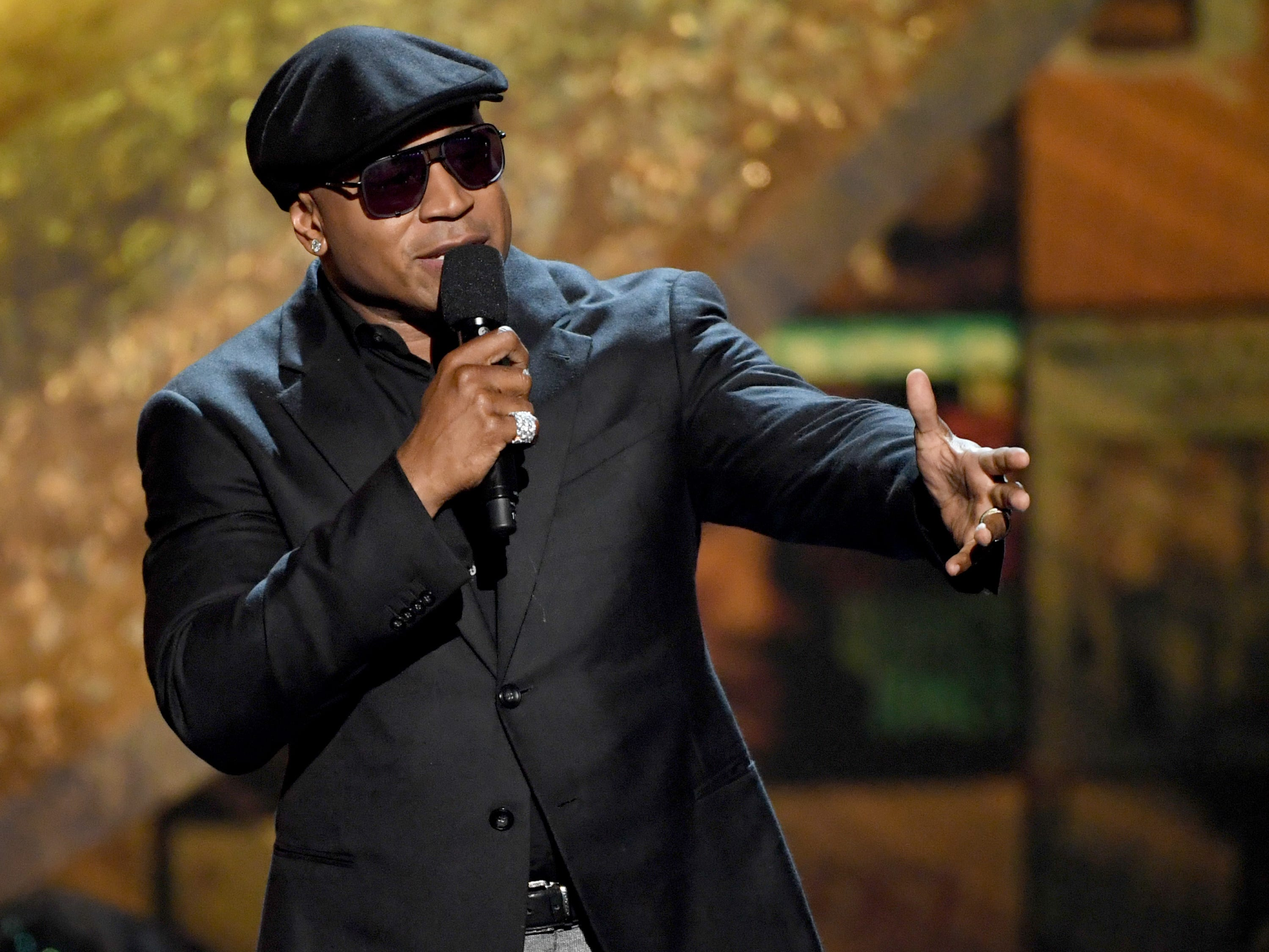 LL Cool J. Here, he speaks onstage at Q85: A Musical Celebration for Quincy Jones at the Microsoft Theatre Sept. 25, 2018. in Los Angeles, California.