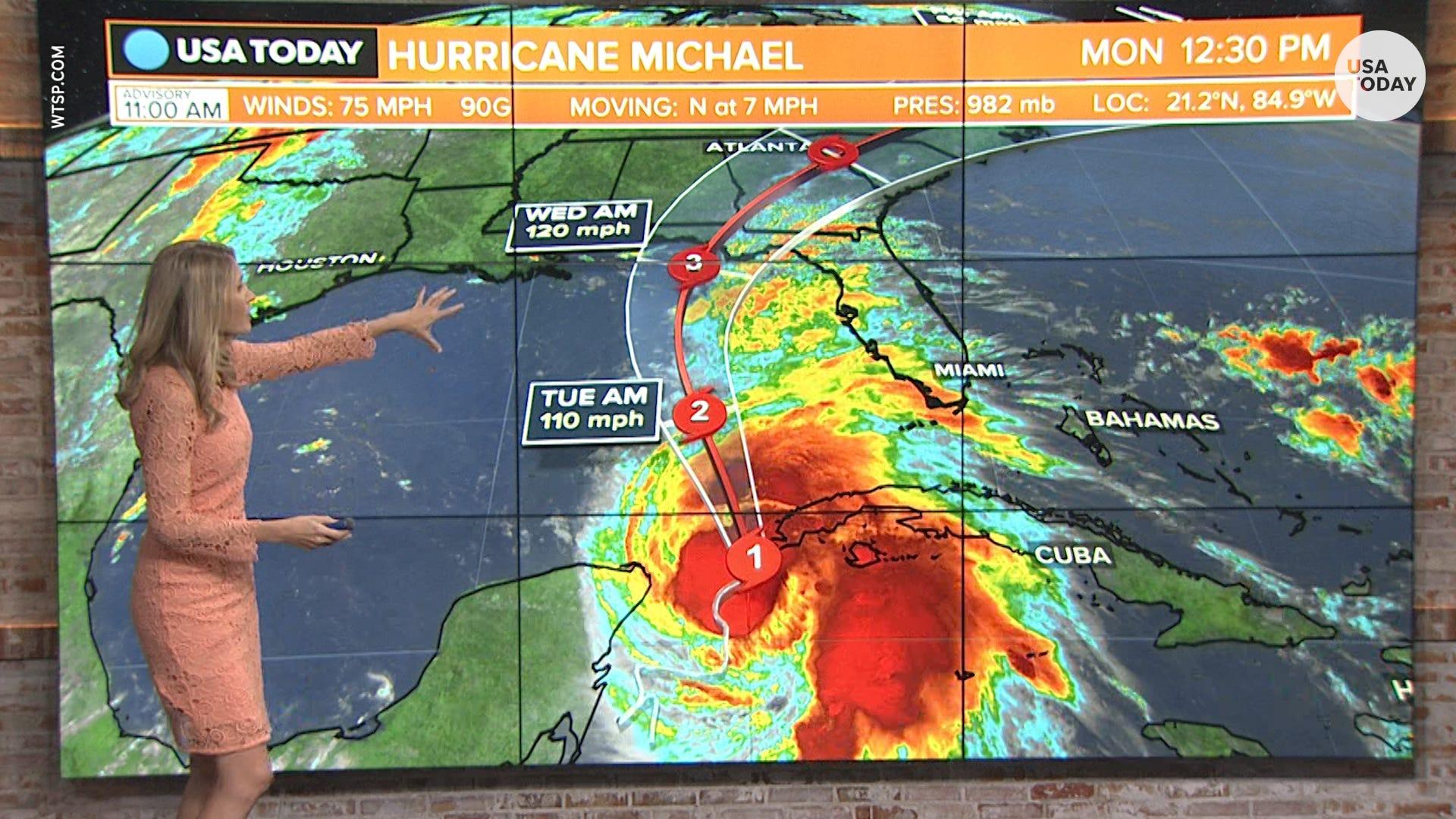 Hurricane Michael intensifies as it heads towards Gulf Coast on