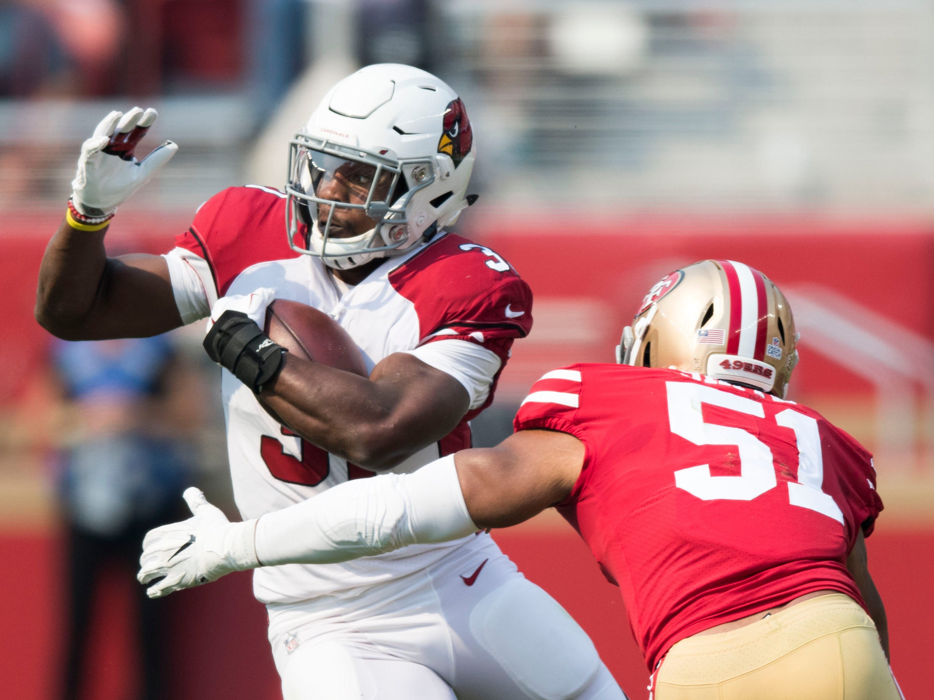 31. Cardinals (32): Still hard to believe a team with David Johnson would rank last in total yards and rushing yards per game at this stage of season.