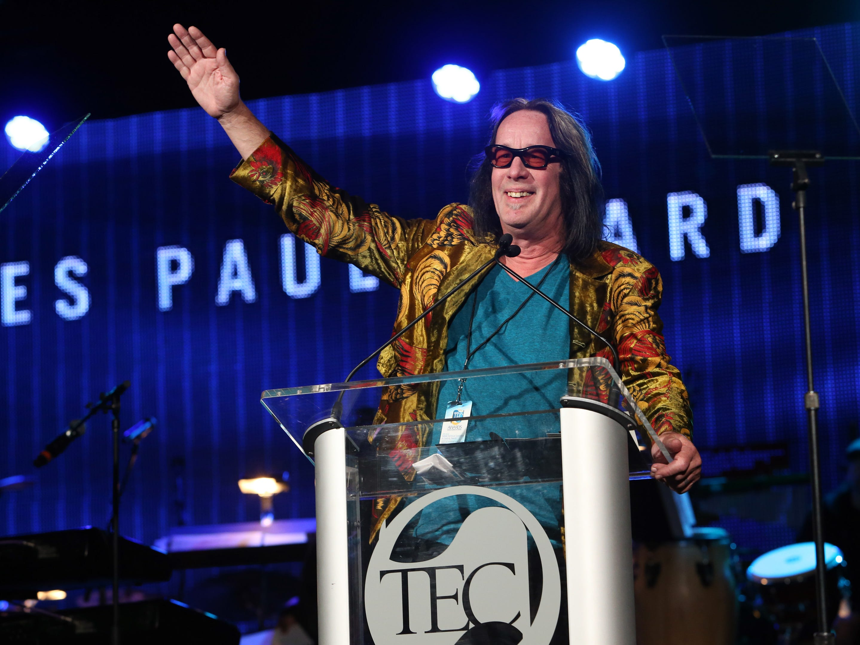Todd Rundgren. Here he attends the NAMM Tec Awards at the Anaheim, California, Hilton  Jan. 24, 2014.
